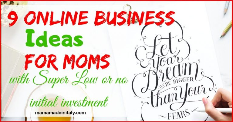 online business ideas for moms