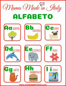 Italian Learning games with flashcards