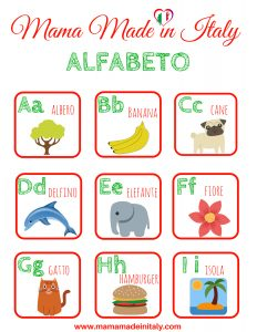 alfabeto flashcard