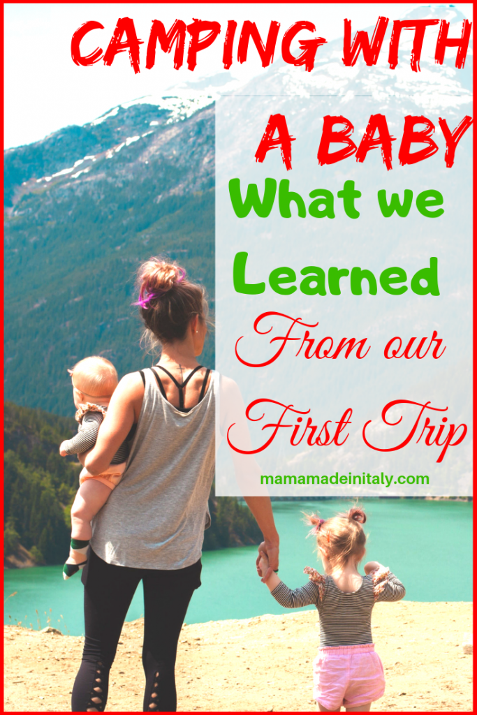 camping with a baby - lessons learned from our first experience