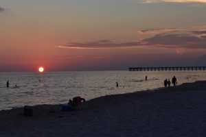 Tramonto su Panama City Beach