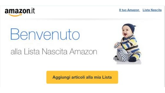 crea una Lista Nascita Amazon in 3 semplici steps