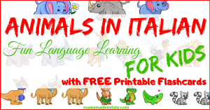 Animals in Italian - language learning for Kids
