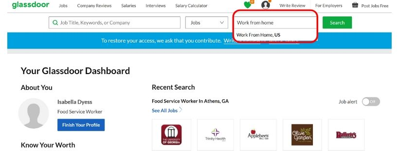 glassdoor remote jobs