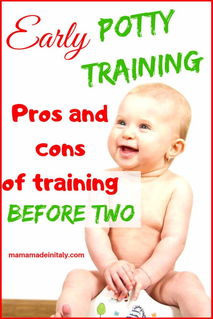early potty training - pros and cons of potty training before age 2