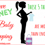 Save money on baby shopping – these 5 things are more than enough