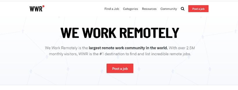 We work remotely portale